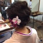 短い髪の毛のヘアセット